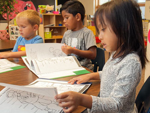 Students in Kindergarten Classes