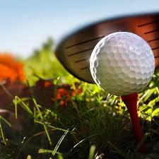 golf ball on tee photo