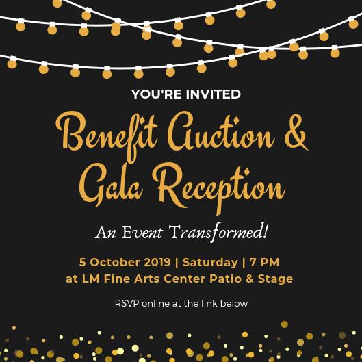 Benefit Auction & Gala Reception Invitation