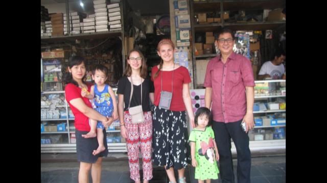 family in market