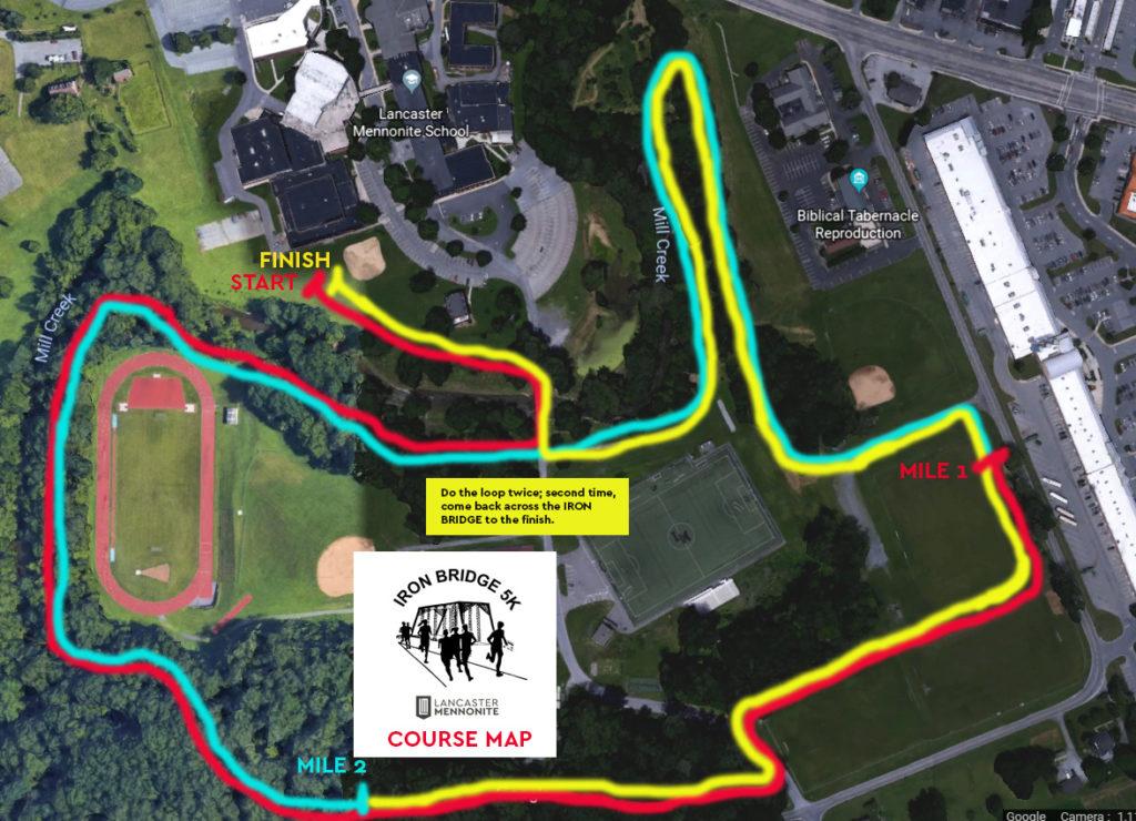 Iron Bridge Run Course Map