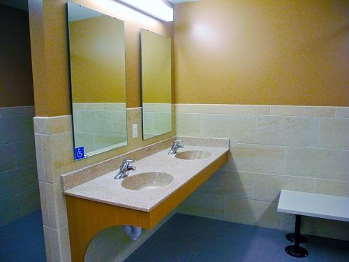 Bathroom in millstream hall