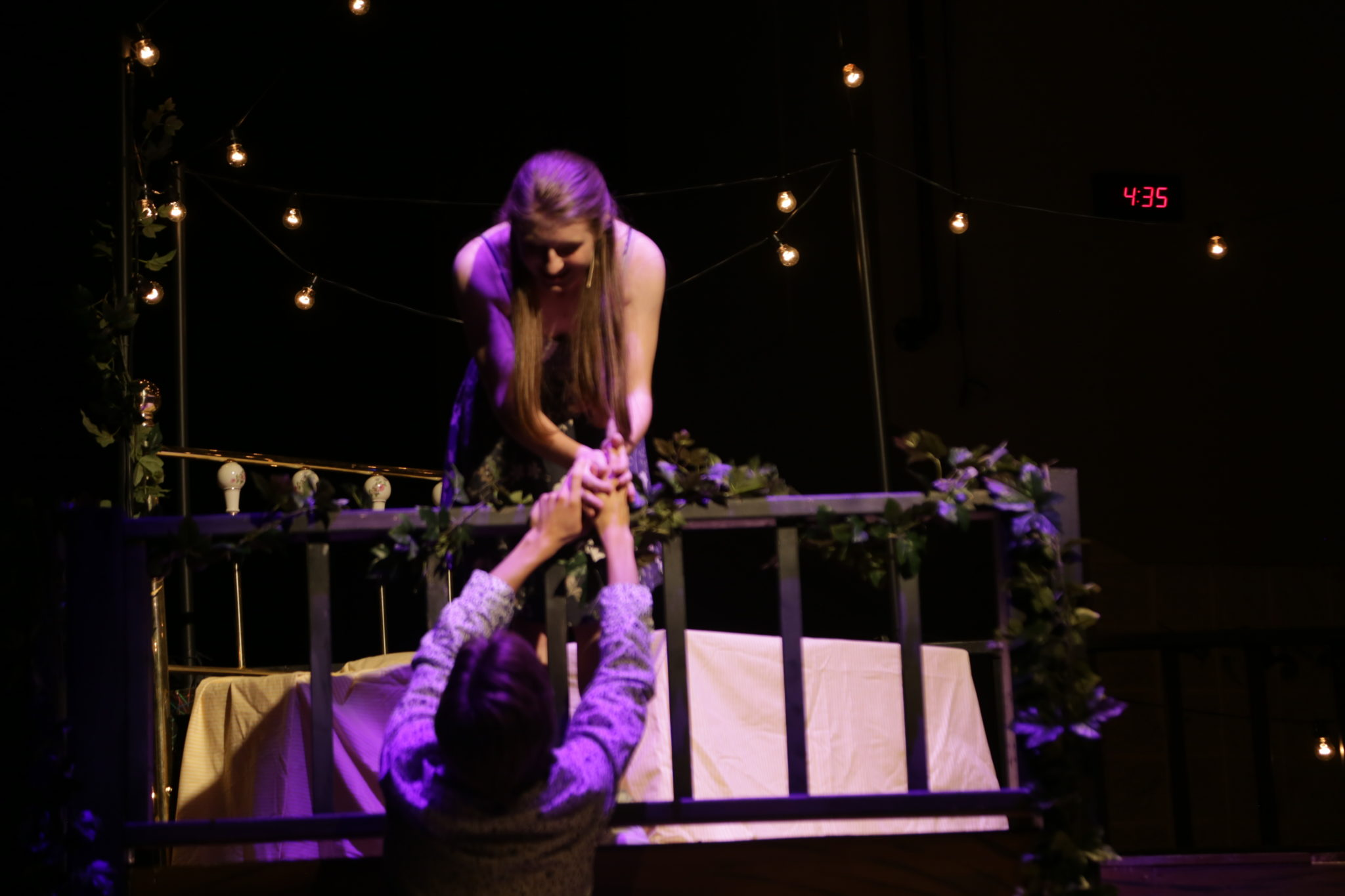 student performing in drama production