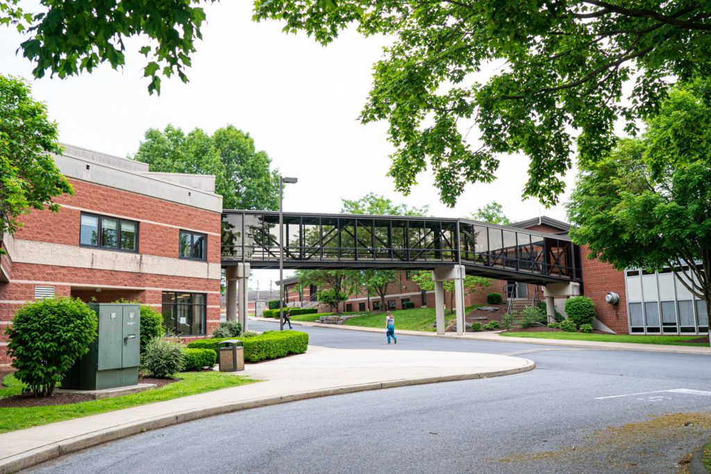 entrance to lancaster campus drive