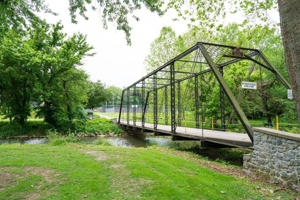 iron bridge over mill stream