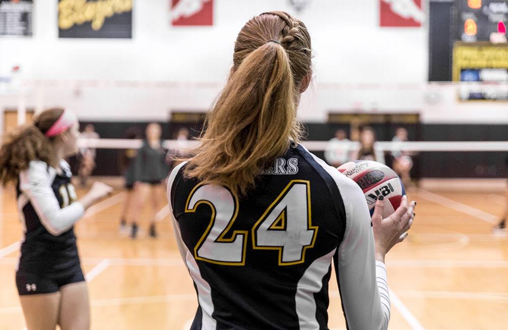 girls volleyball game