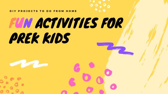 PreK kids activities from home graphic