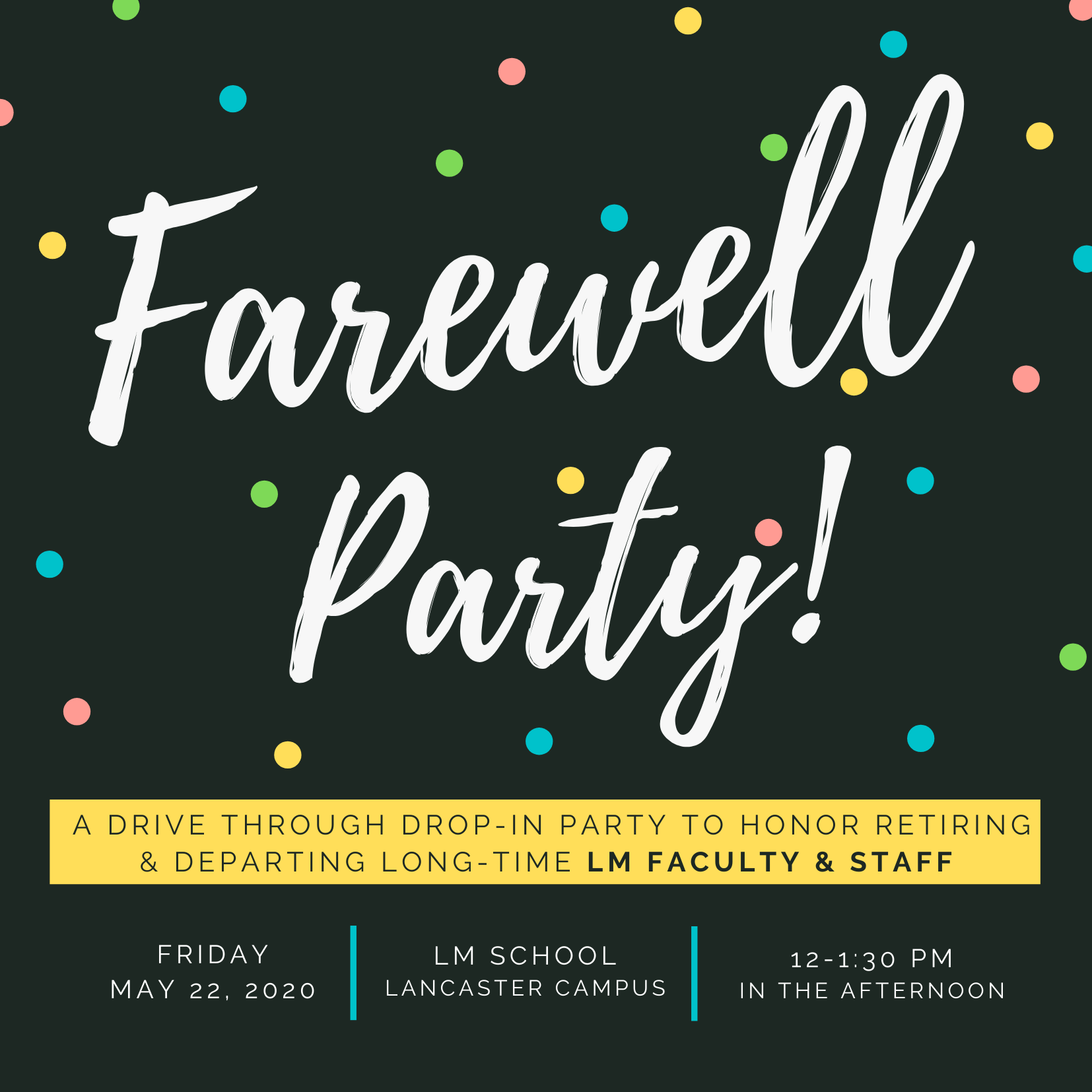farewell party graphic