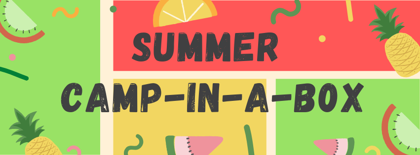 summer camp-in-a-box graphic