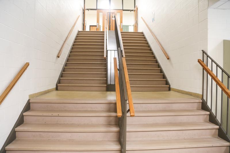 stairway in high school