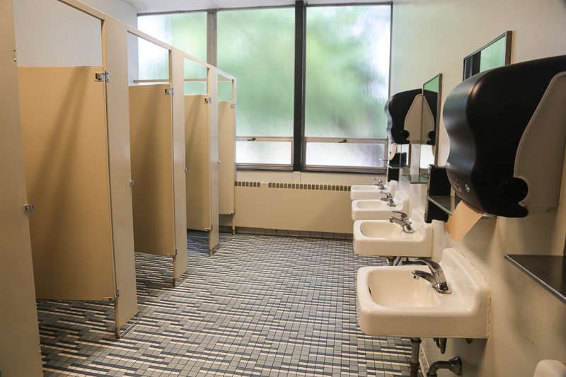 bathroom in '64 classroom building