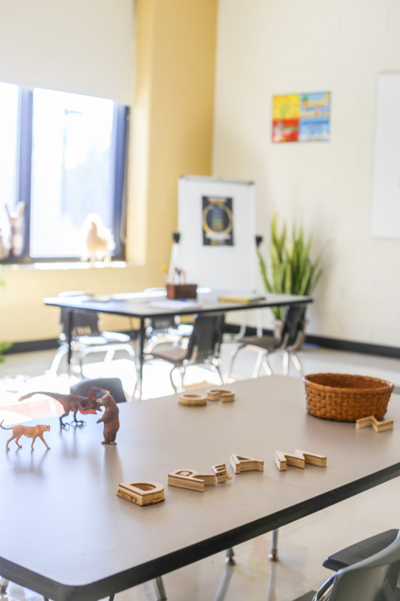 staged elementary classroom