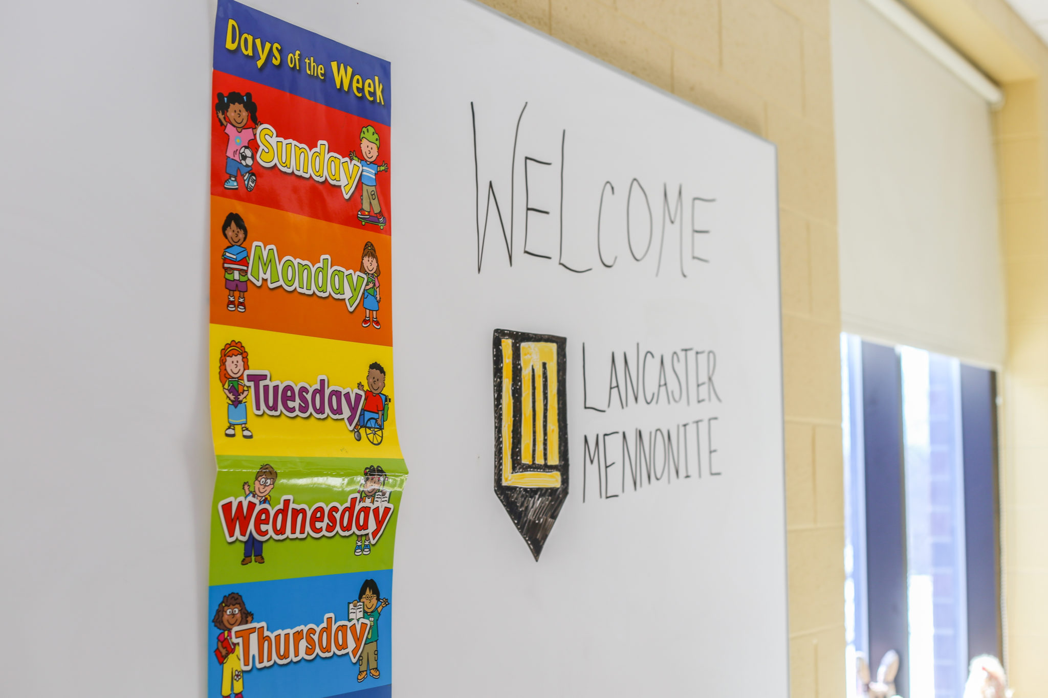 staged elementary classroom welcome