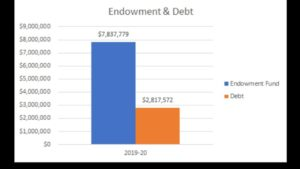 endowment and debt chart 2019-20