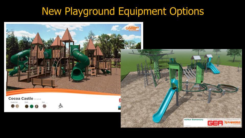 new playground equipment options