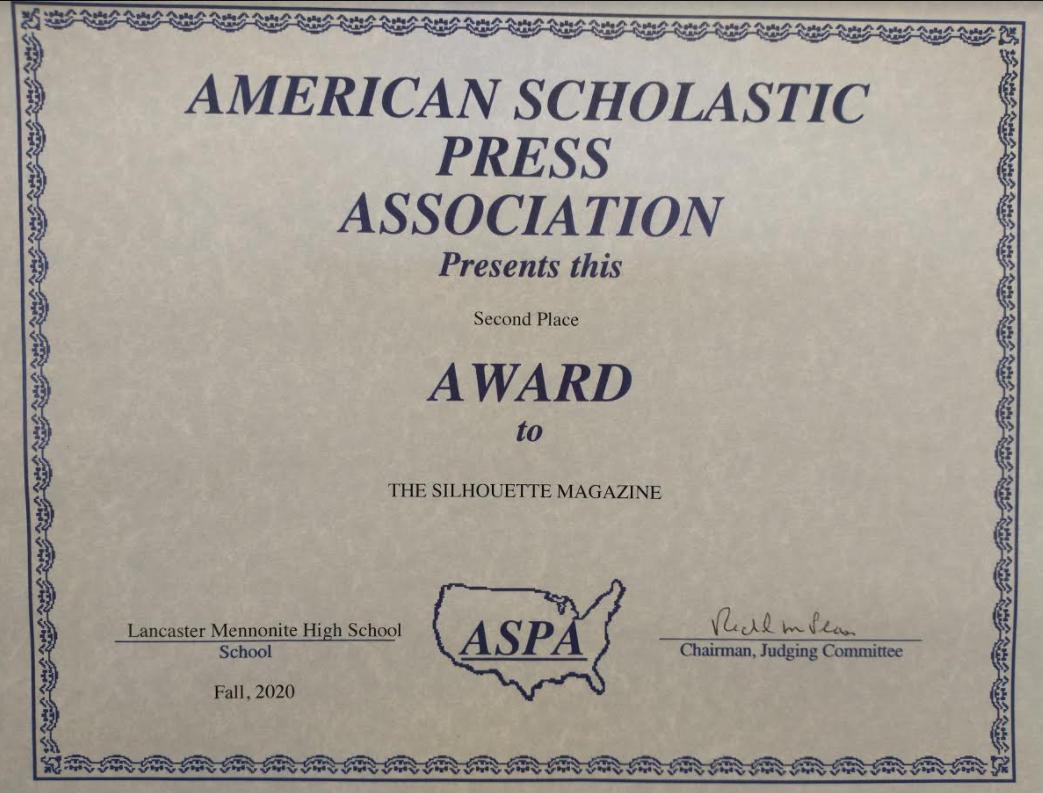 american scholastic press association award