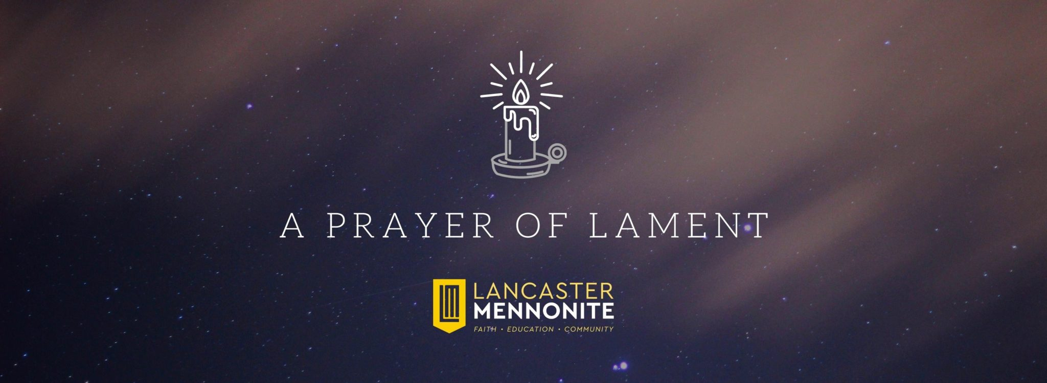a prayer of lament banner