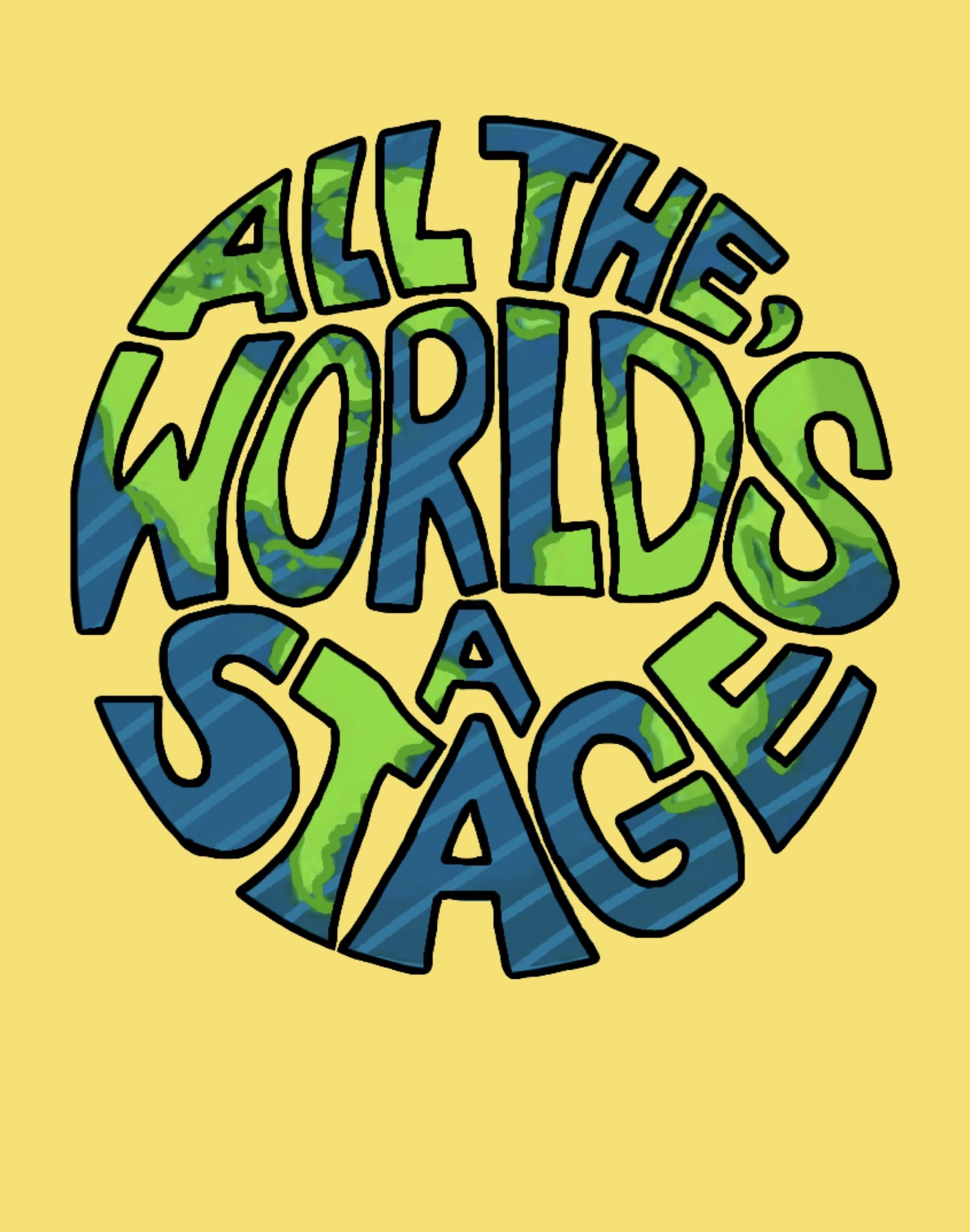 all the worlds a stage graphic