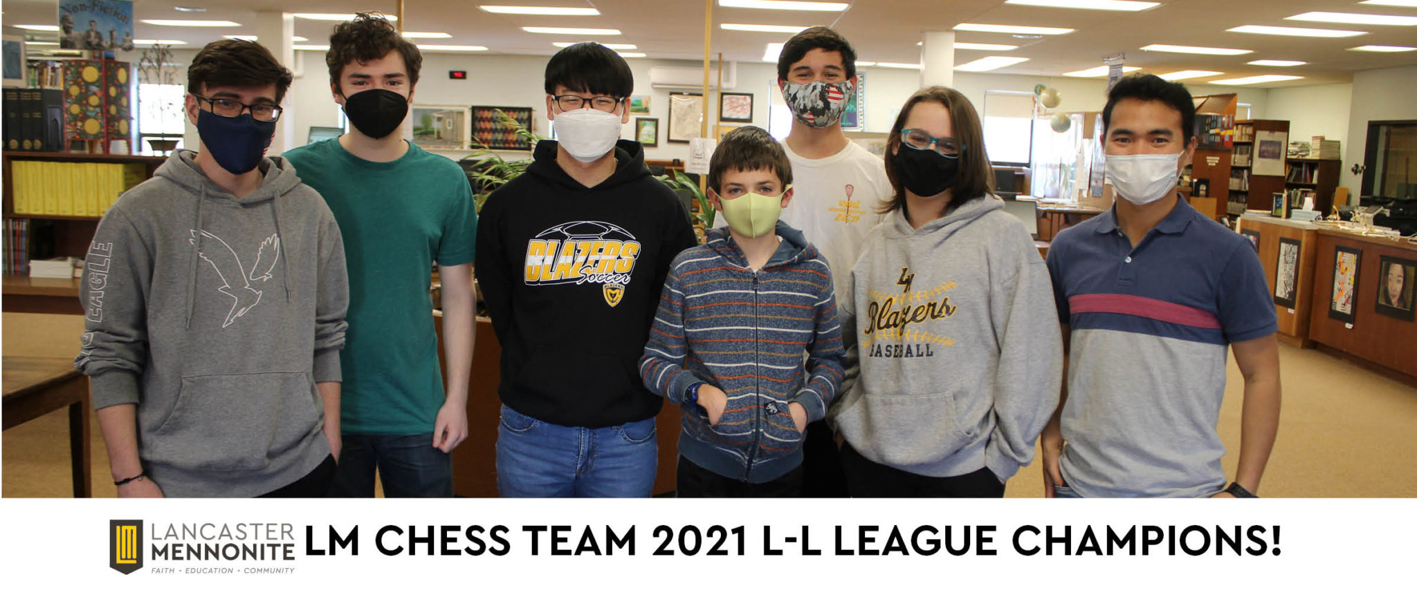 LM chess team 2021 L-L League winners