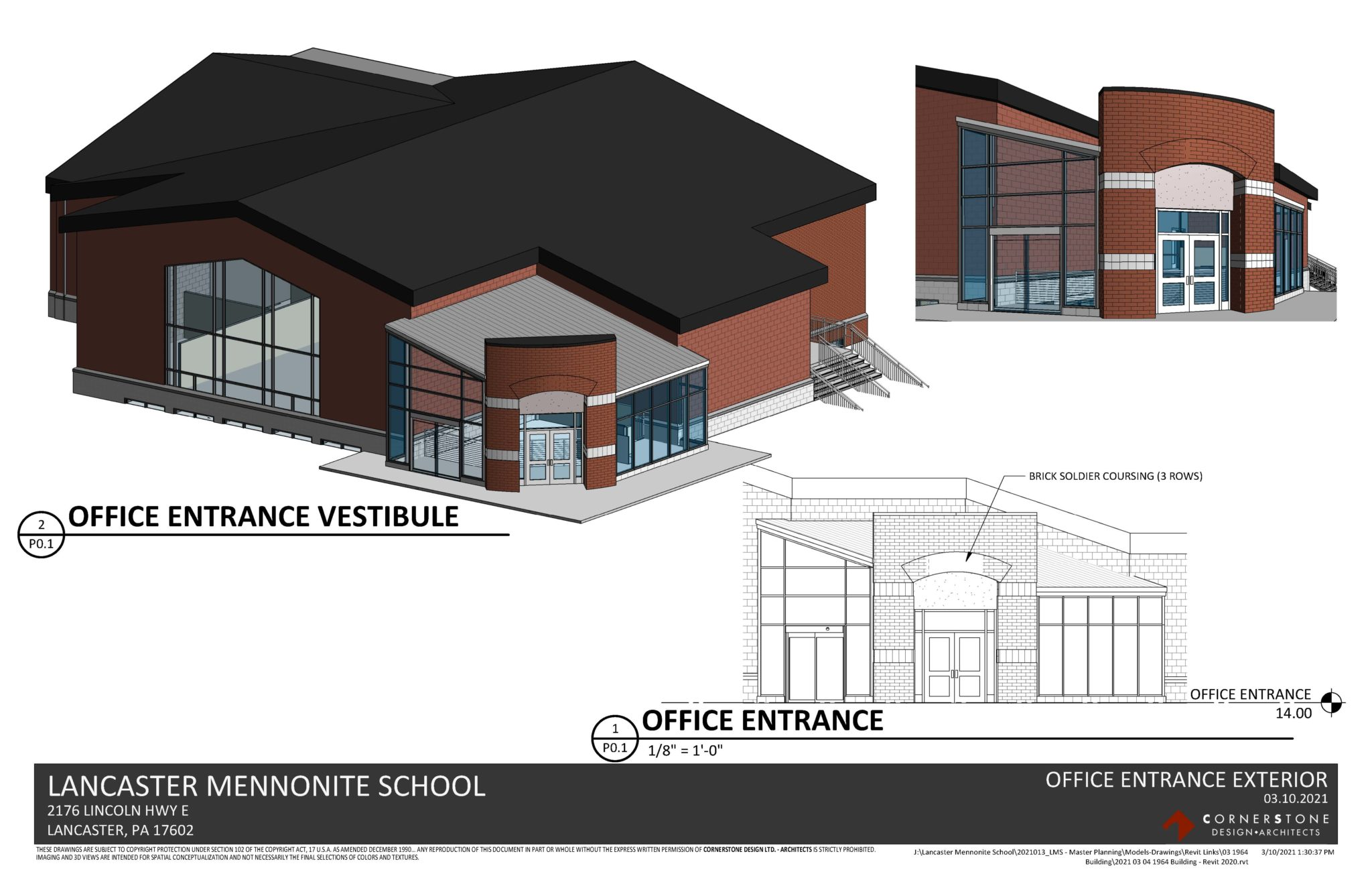 proposed new high school and middle school entrance