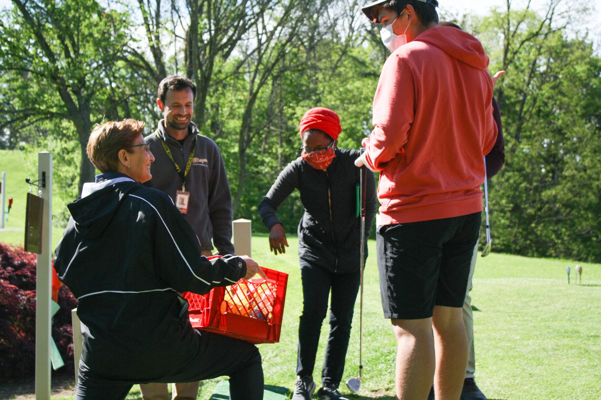 refreshments at the golf tournament