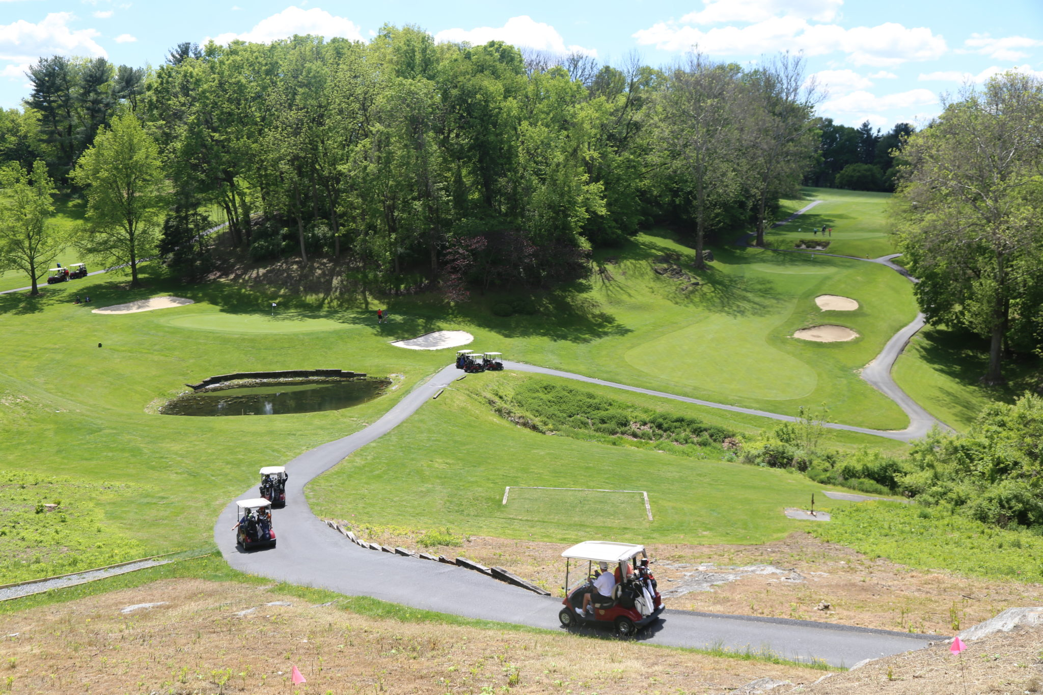 view of golf course at media heights