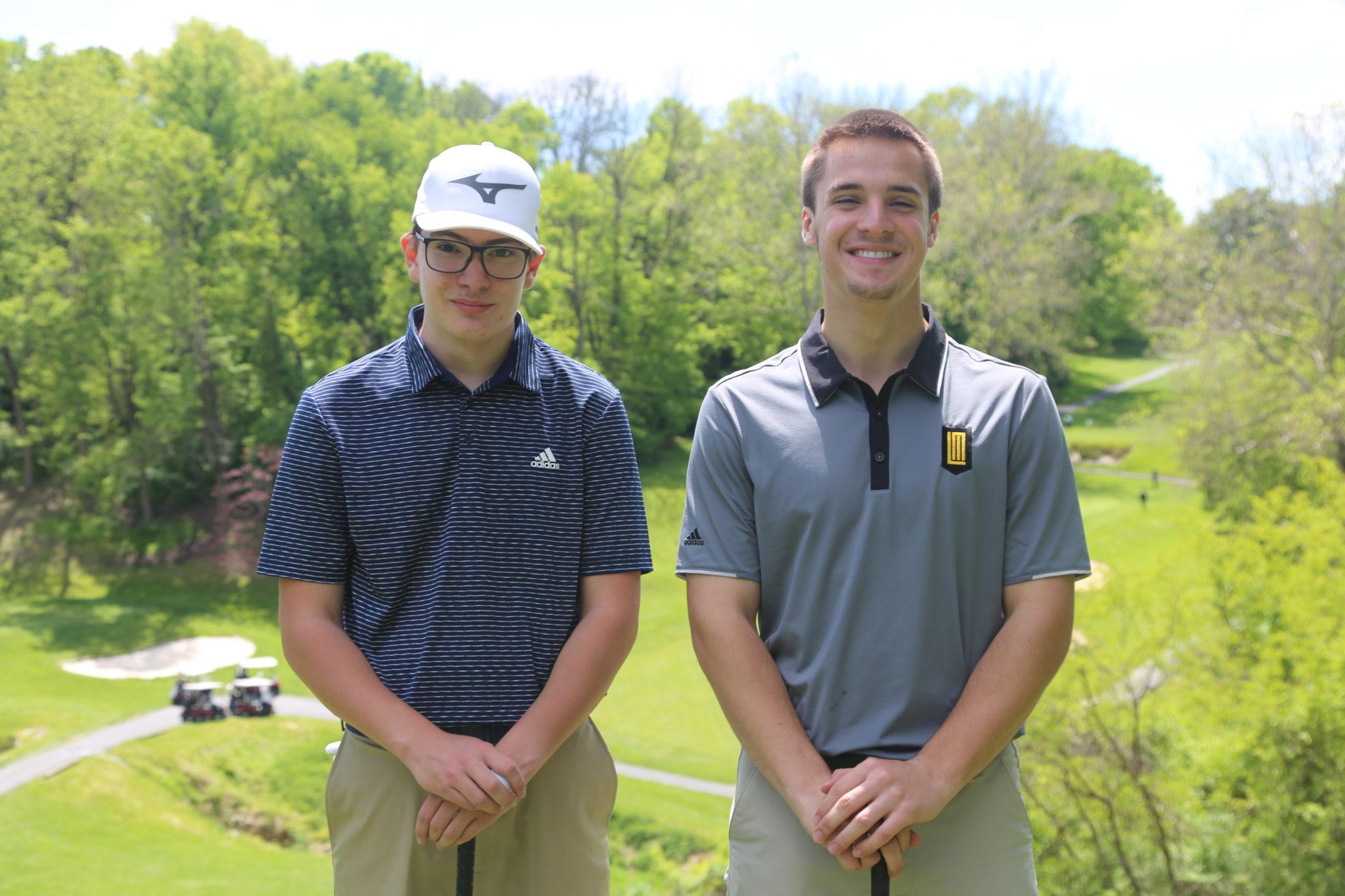 two male golfers