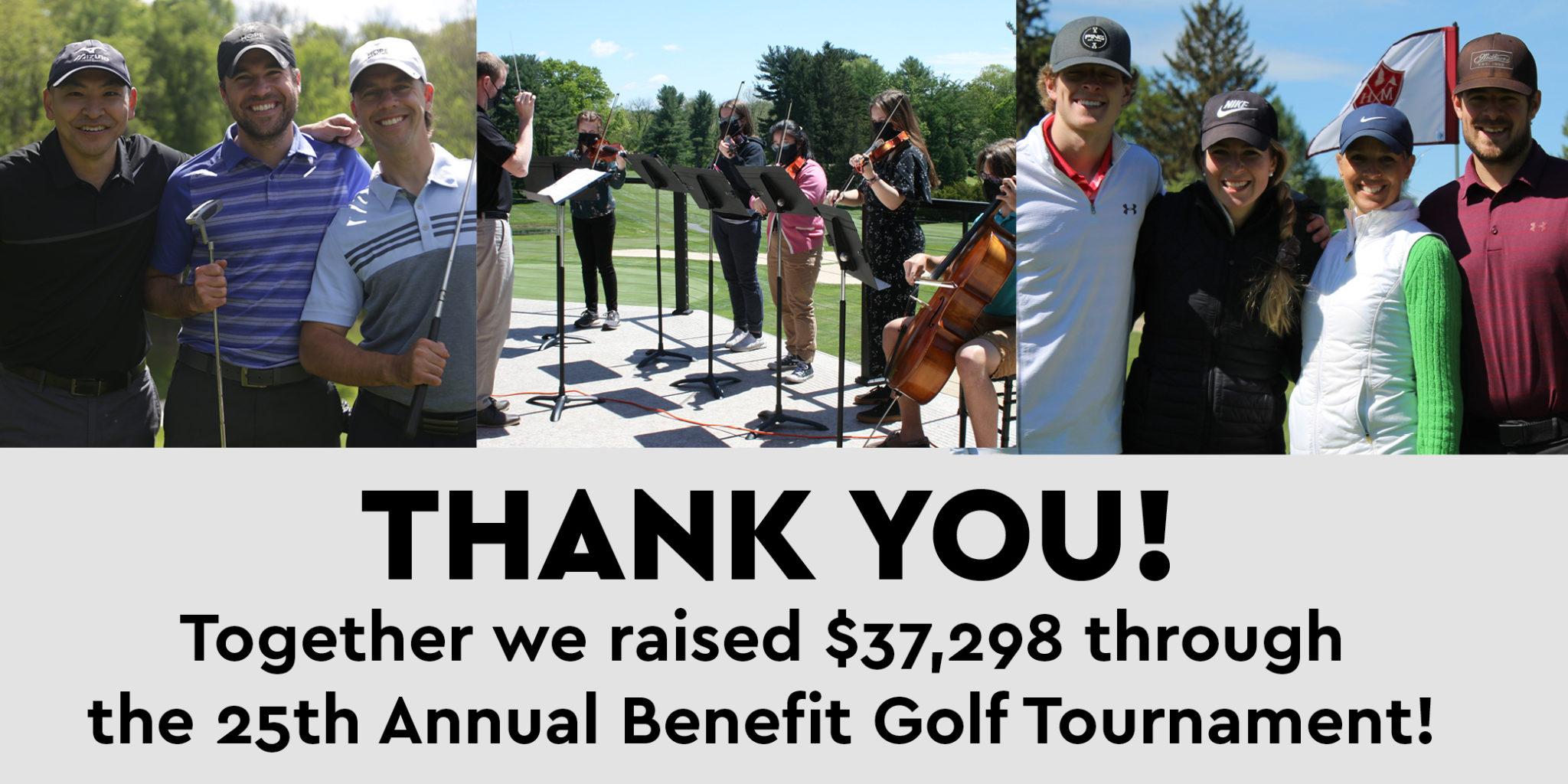 thank golf tournament 2021 graphic