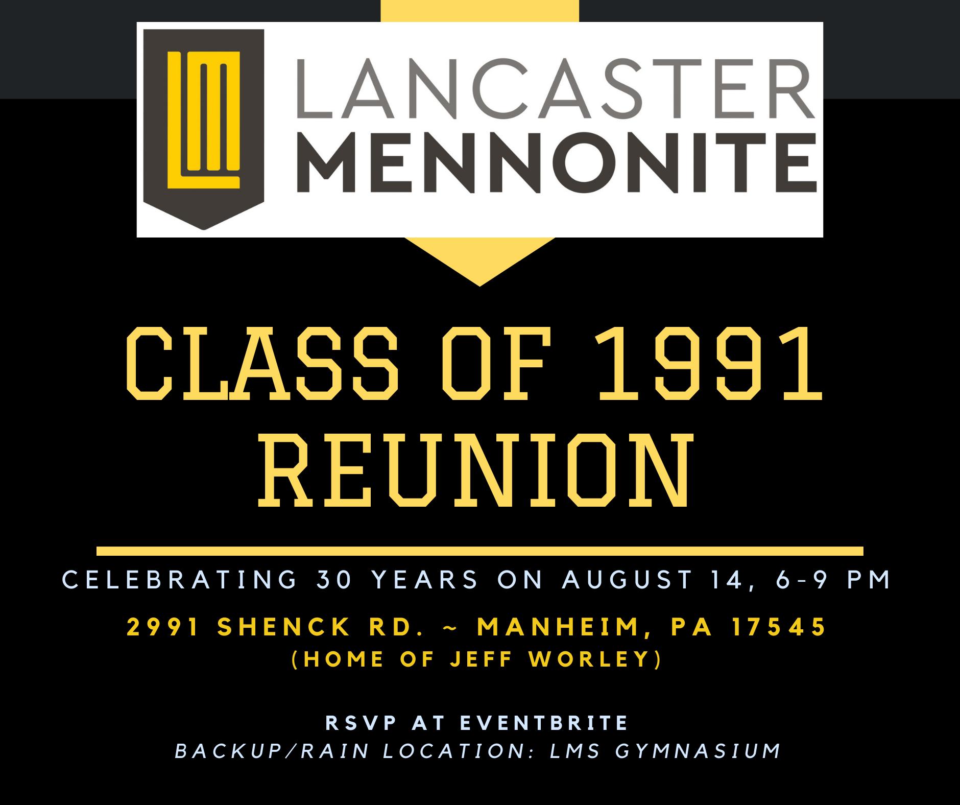 1991 Class Reunion Flyer