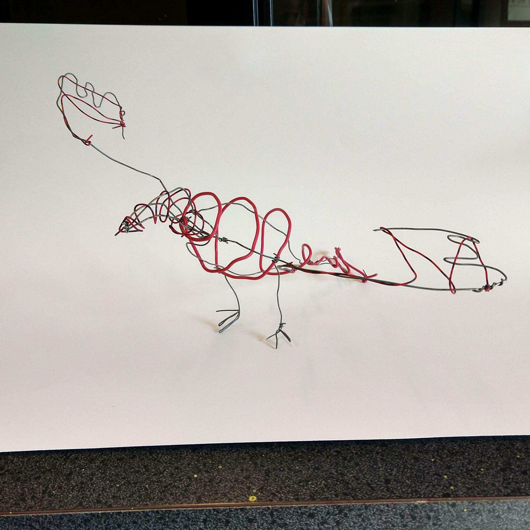 Photo, student artwork, wire piece
