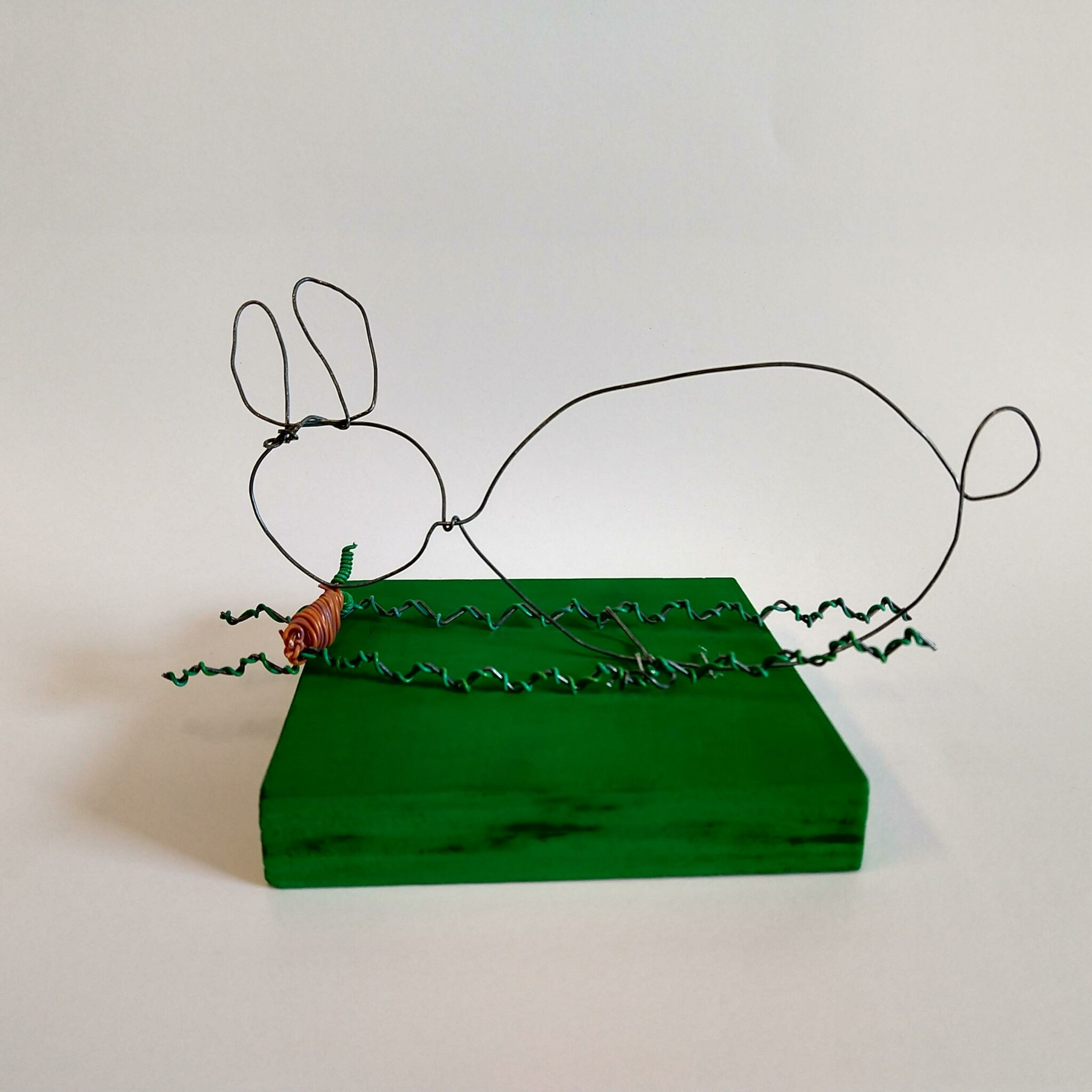 photo of student artwork, wire piece,