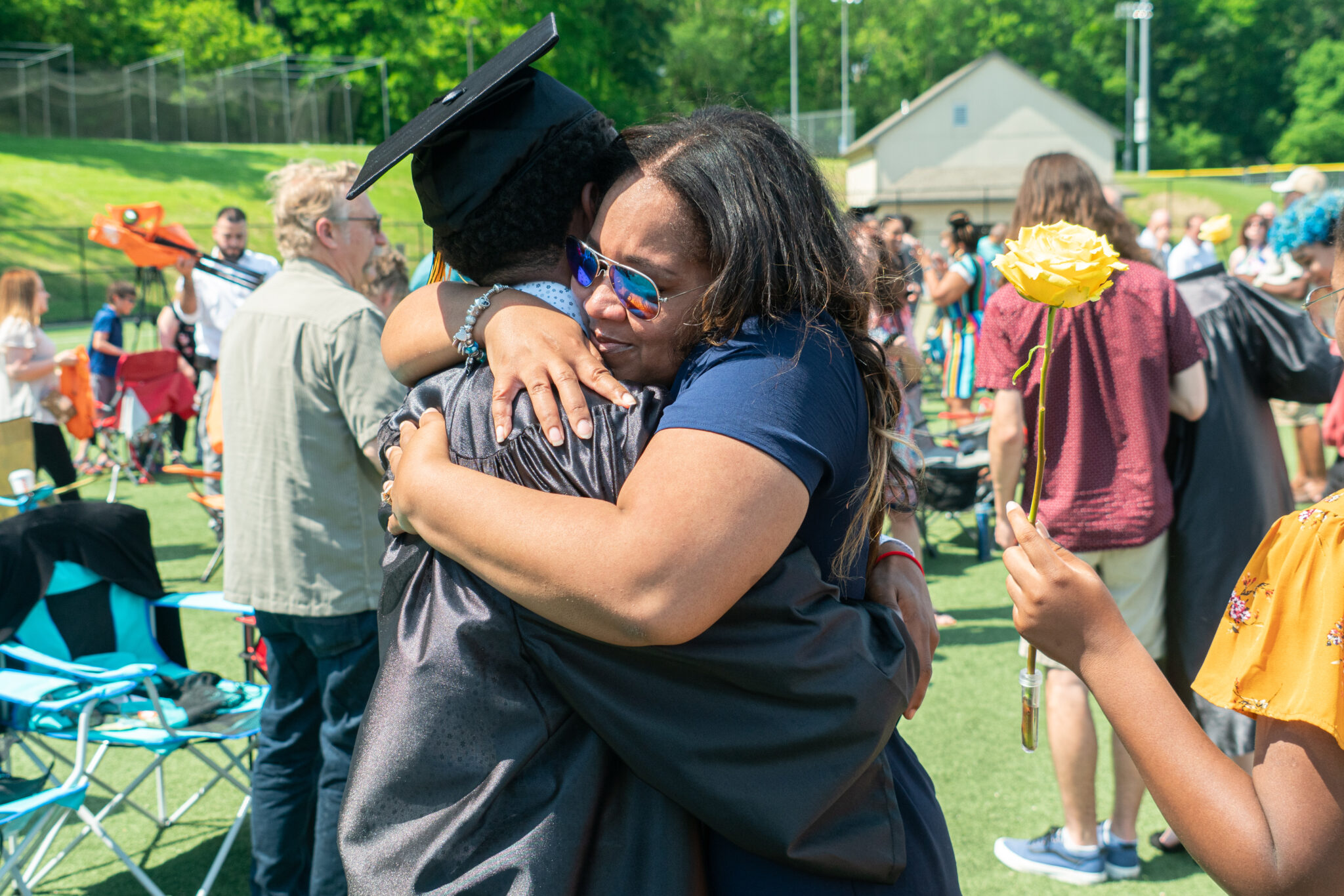 family hug graduate