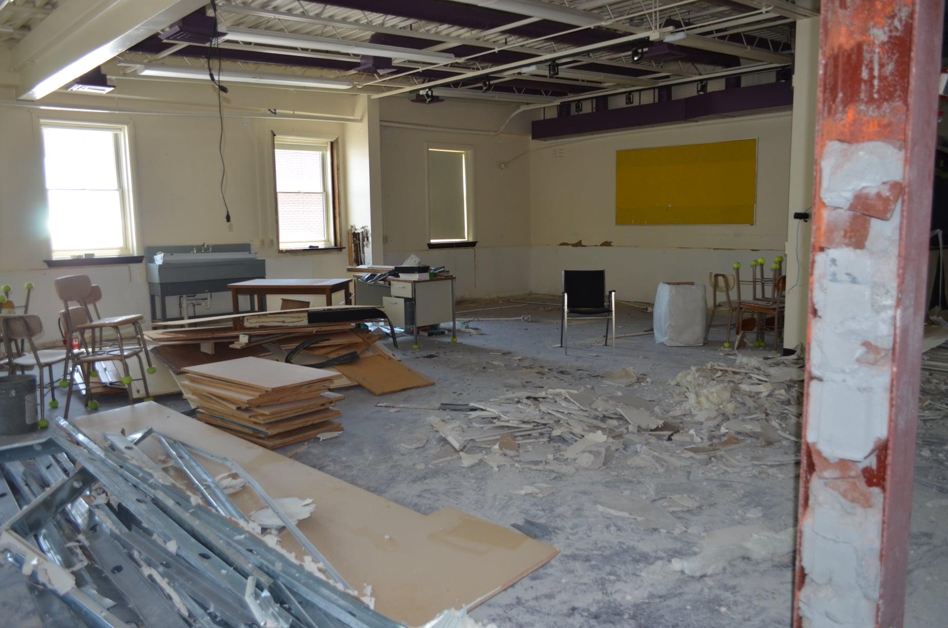 future FACS rooms under construction