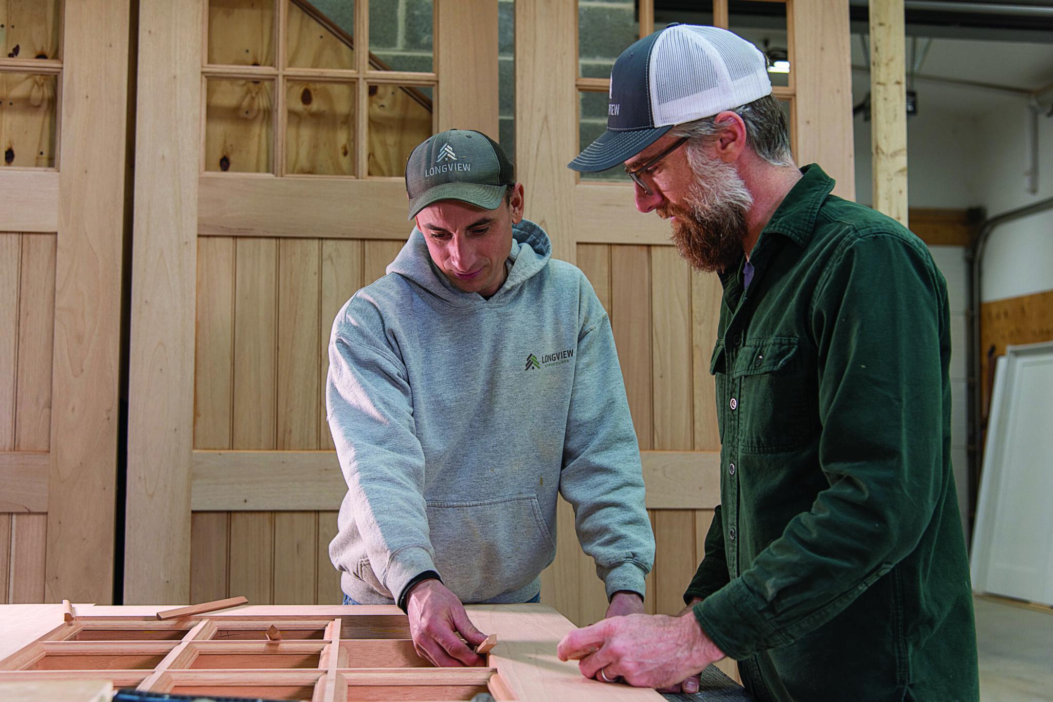 two longview contractors at work