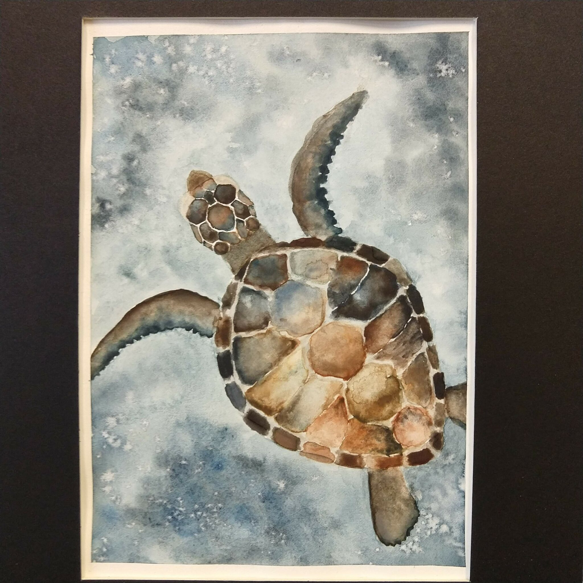 water color of turtle