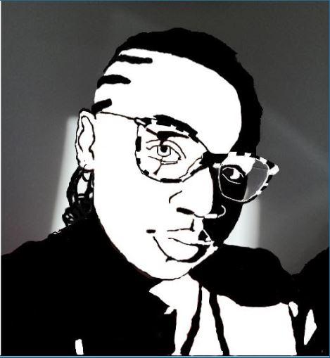 Digital portrait black and white