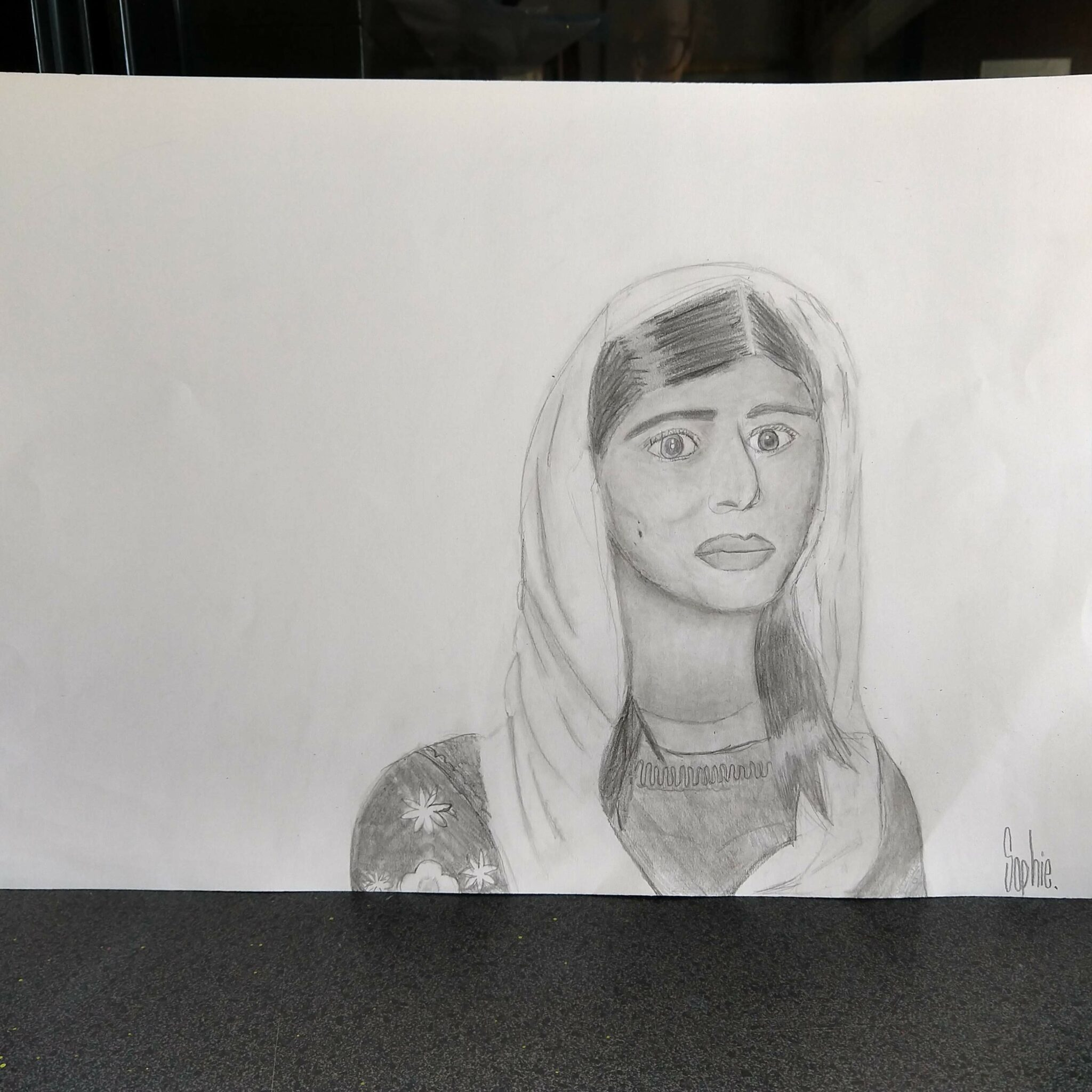 pencil drawing of a person