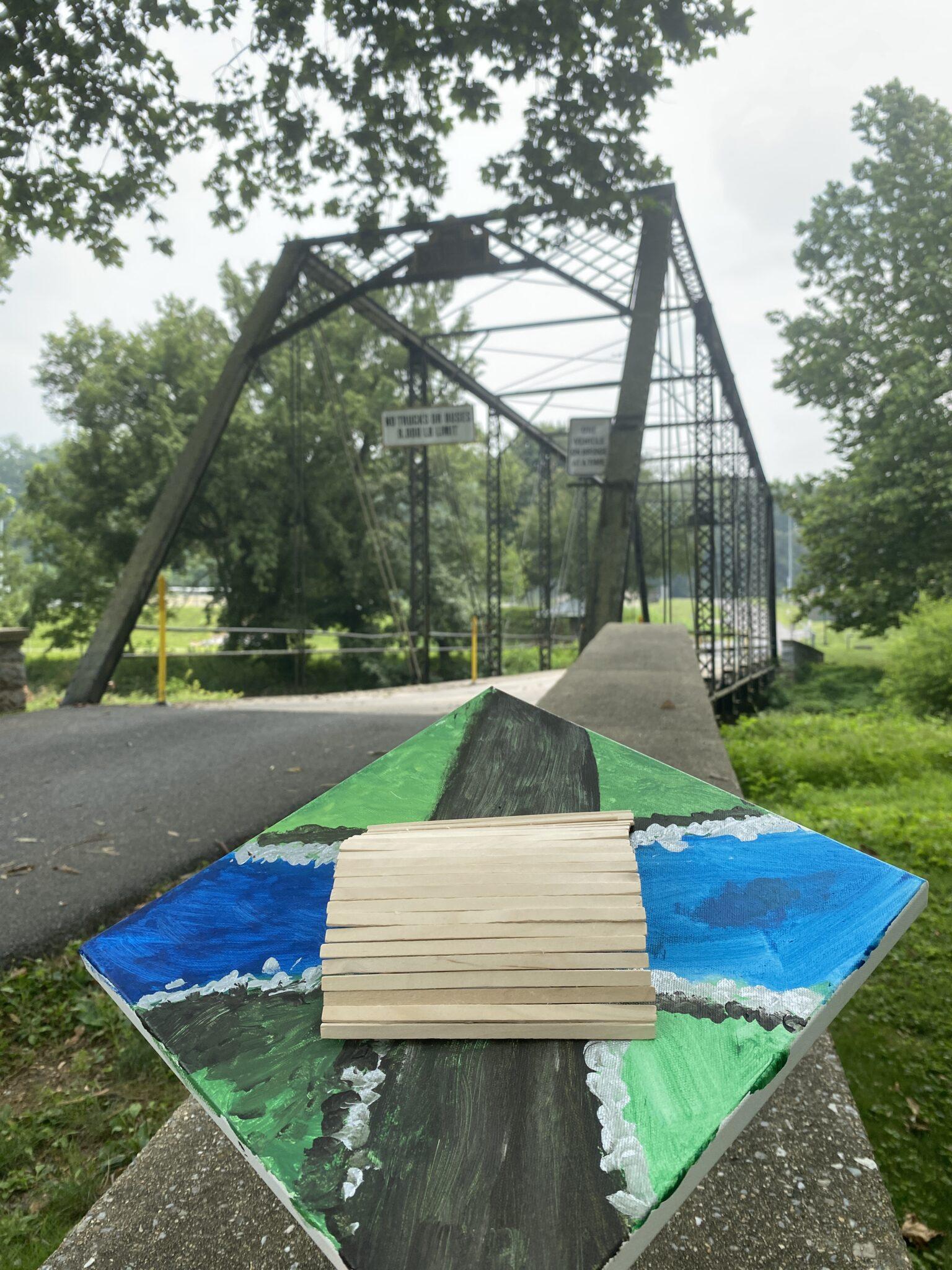 student art near bridge
