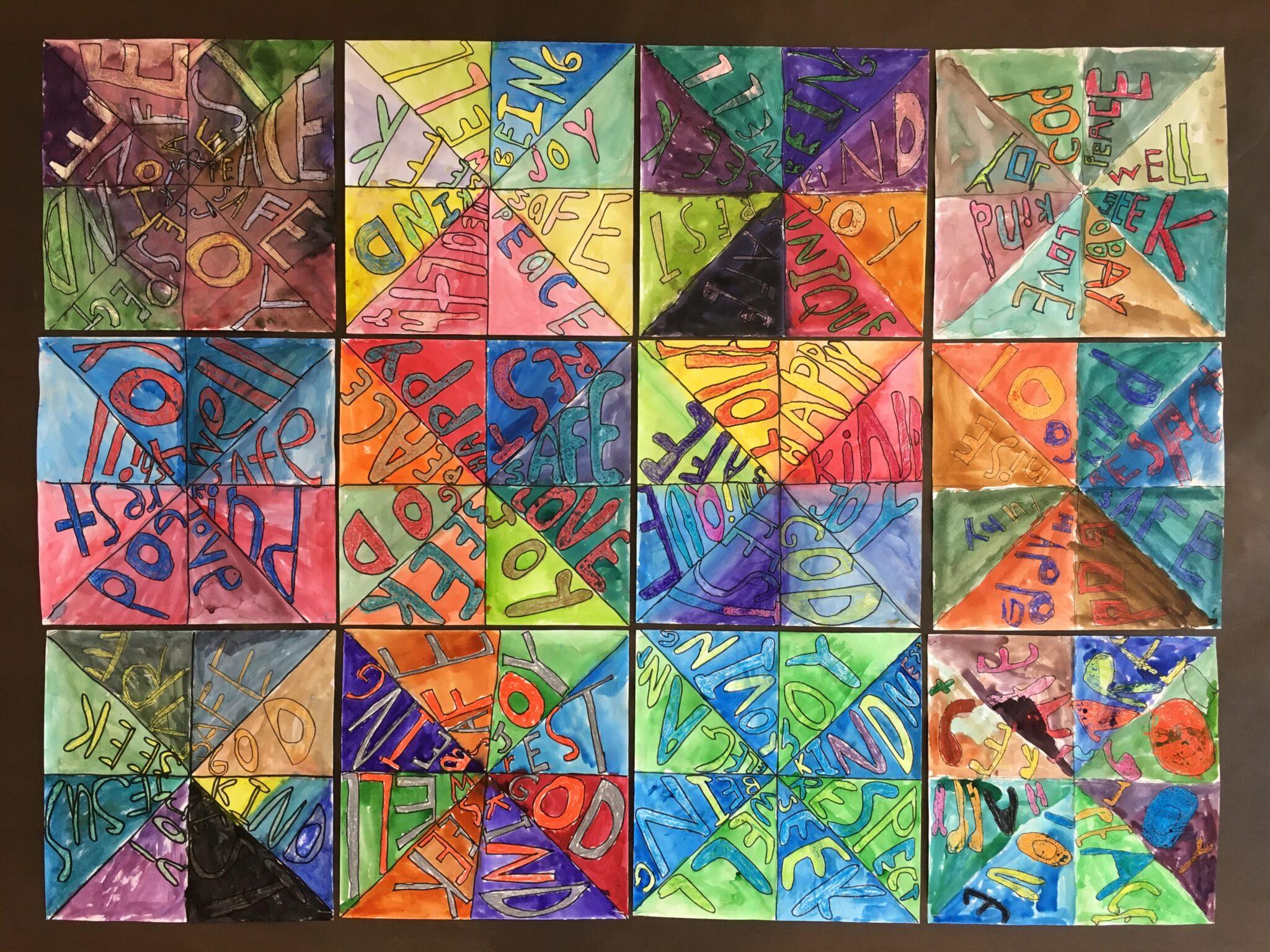 crayon and watercolor art