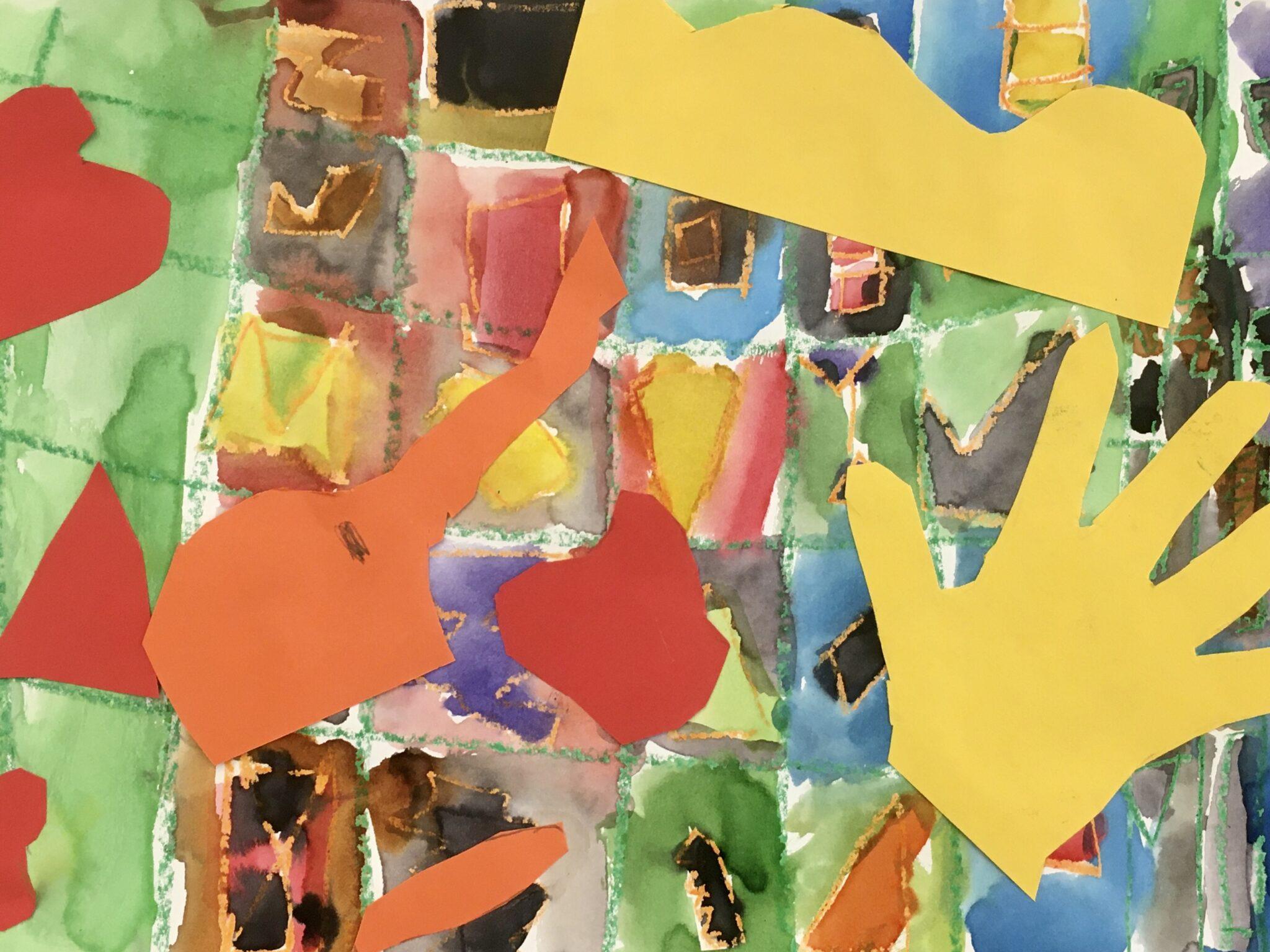 Paper collages artwork