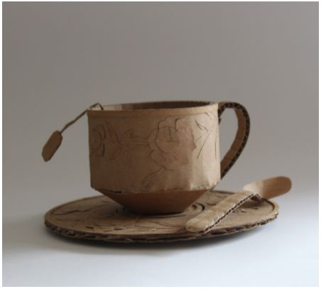 pottery of a cup and saucer