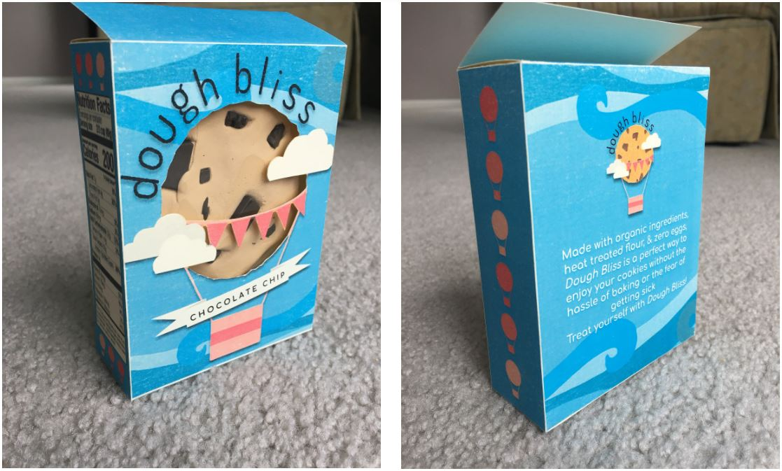 package design blue with dog