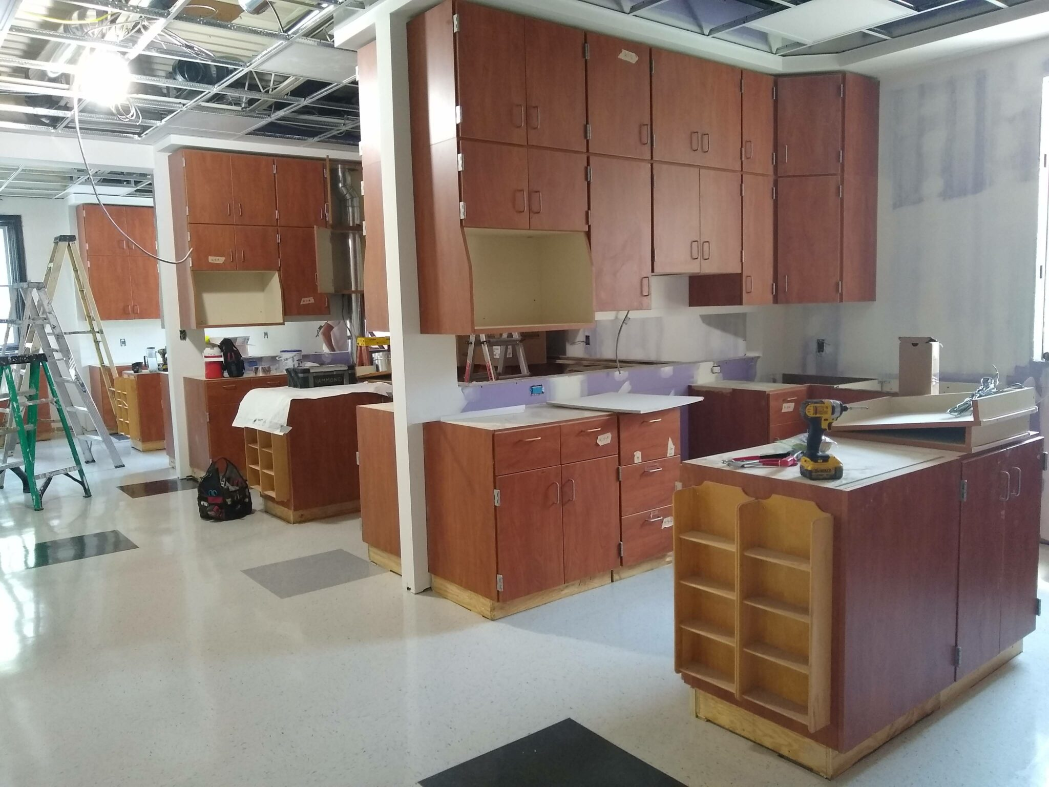 new family consumer sciences room in progress