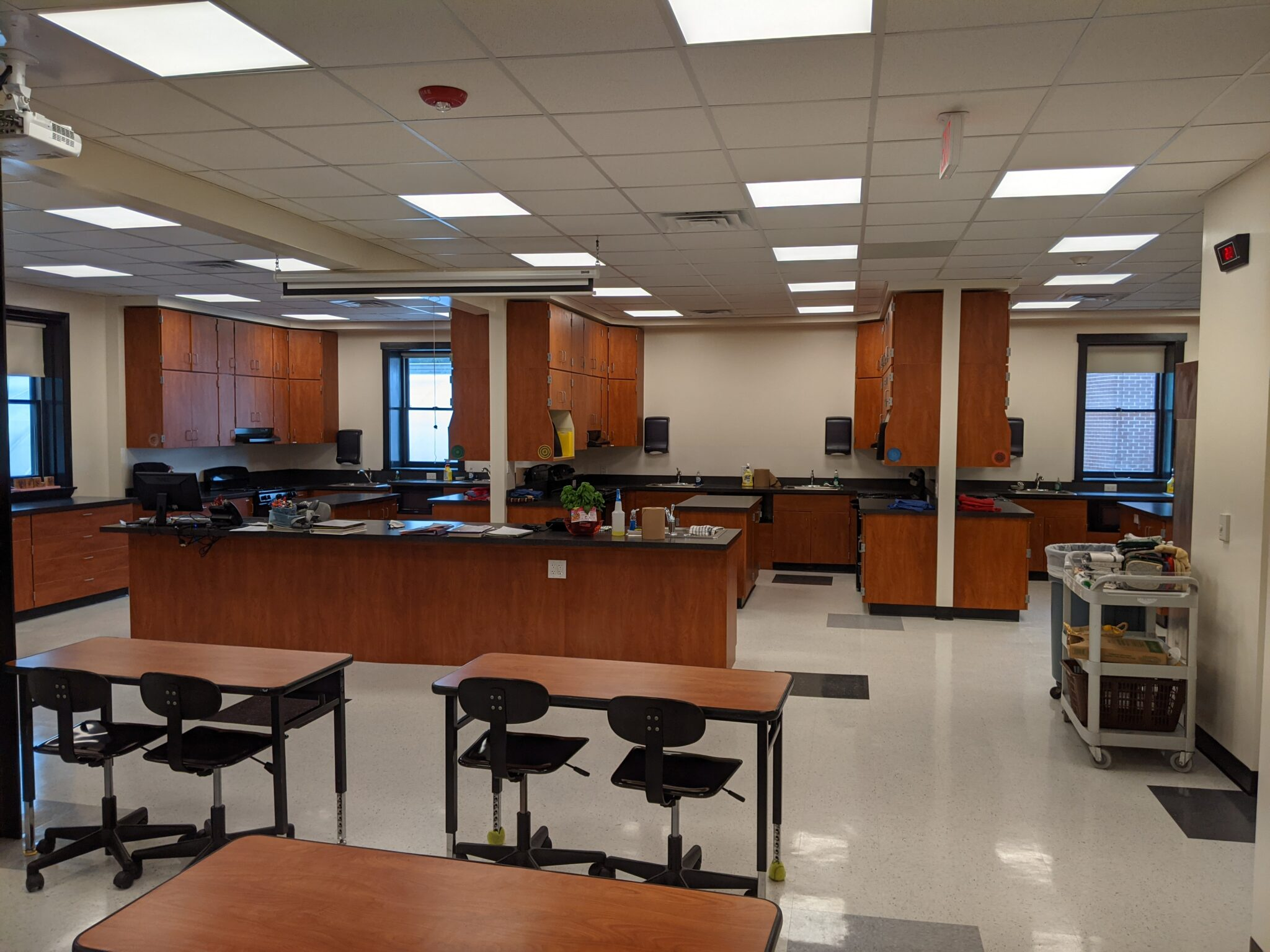 new family consumer sciences room comleted
