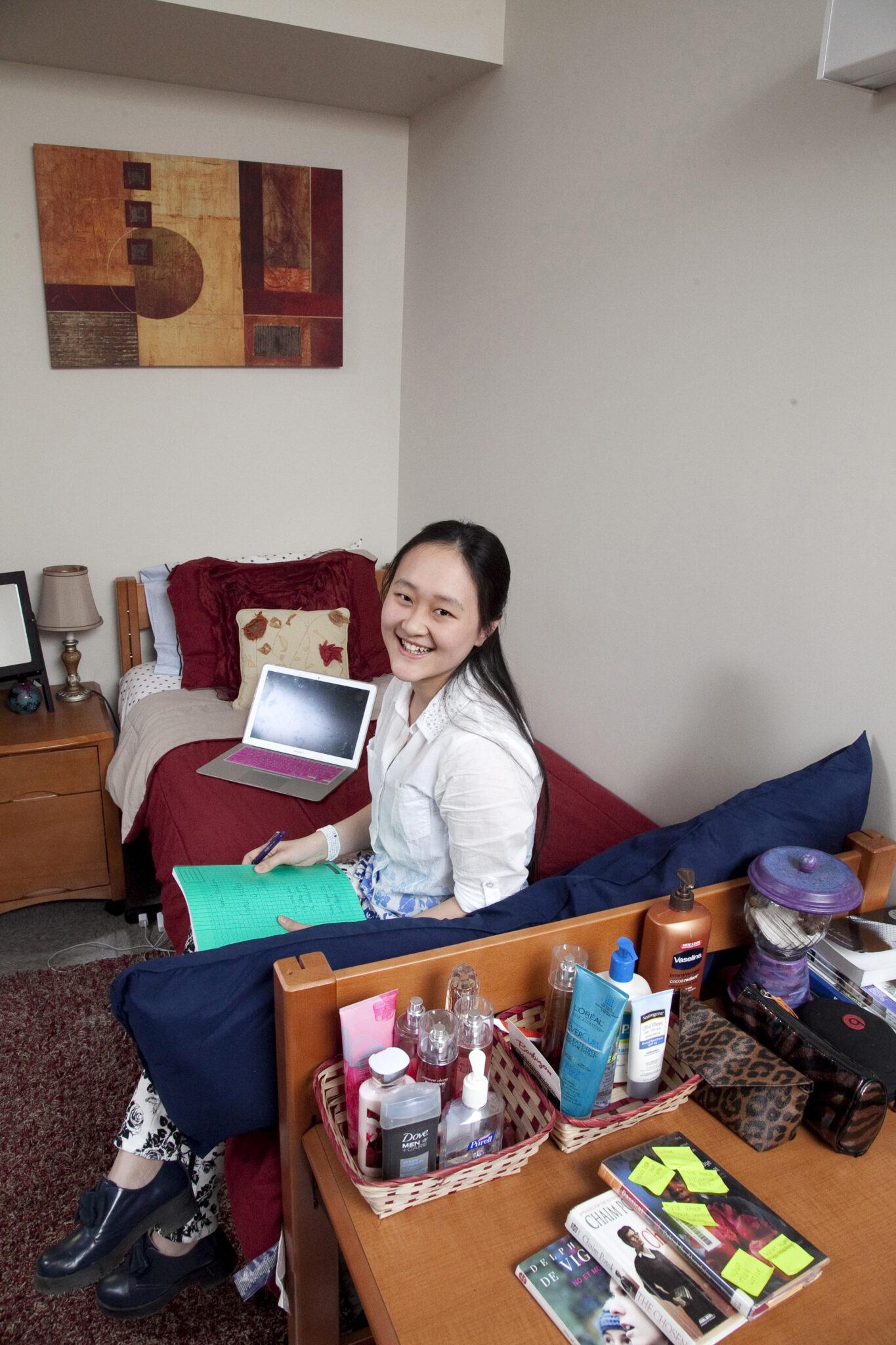 dorm student decorated room